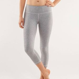Lululemon Wunder Under Crop Grey